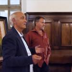 La mostra personale del pittore Giovanni Schiaroli presso il refettorio dell'ex Convento delle Clarisse di Ostra presentata dal Prof. Enzo Carli