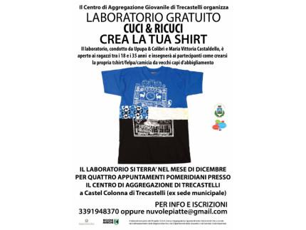 workshop gratuito per imparare a crearsi una tshirt/felpa da un vecchio capo d'abbigliamento
