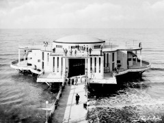 Foto d'epoca della Rotonda a Mare, scattata da Leopoldi
