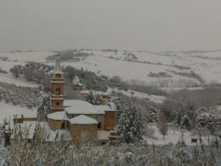 Neve a Ostra alla Madonna della Rosa - Foto Federico Pasqualini