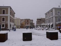 Neve a Senigallia - Piazza Saffi