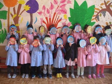 Bambini della scuola dell'infanzia Peter Pan di Casine di Ostra