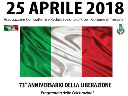 A Trecastelli si celebra l'Anniversario della Liberazione
