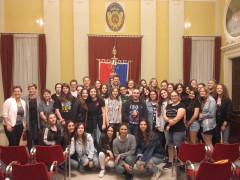Studenti del Liceo Medi di Senigallia e del Maria-Ward-Gymnasium di Augusta ricevuti in Comune