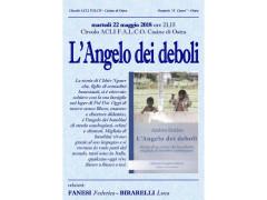 """A Casine di Ostra la presentazione del libro """"L'angelo dei deboli"""""""