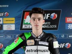 Il motociclista Diego Goretti