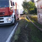 Incidente sull'Arceviese: furgone contro guard-rail, Vigili del Fuoco sul posto