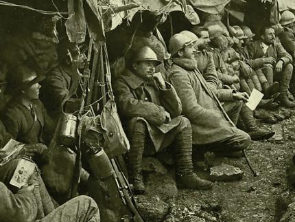 Soldati della Prima Guerra Mondiale al fronte