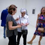 Emanuela Sforza a Trecastelli per l'apertura della mostra a lei dedicata
