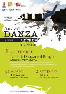 Festival Danza Urbana 2018 a Corinaldo - locandina