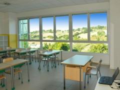 Aula scolastica a Trecastelli