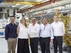 La famiglia Romagnoli, fondatori e amministratori della TechPol di Morro d'Alba