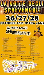 La Notte degli Sprevengoli 2018 a Ostra - locandina