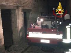incendio dentro la chiesa di Santa Maria Goretti a Corinaldo