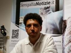 Mohamed Malih nella redazione di Senigallia Notizie
