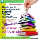 borse di Studio alla memoria del Dott. Antonio Liguori