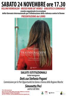 Presentazione a Trecastelli per il libro Trasmigrazioni di Simonetta Peci - locandina