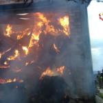 Incendio in fienile a San Pietro di Arcevia