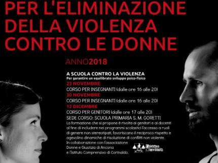 Corinaldo celebra la giornata contro la violenza sulle donne