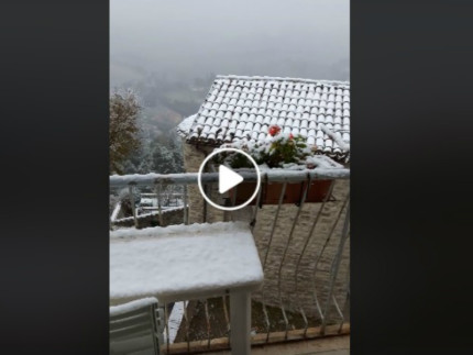 Video Notizia: prima neve ad Arcevia
