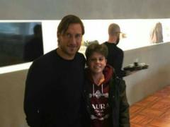 Francesco Totti e Michele Fiscaletti