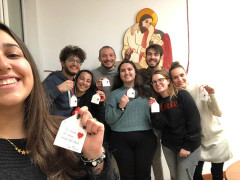 Ragazzi dell'AC di Trecastelli che hanno preso parte alla convivenza al Centro Caritas di Senigallia
