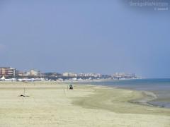 La riviera nord (lungomare Mameli) di Senigallia, spiaggia di ponente
