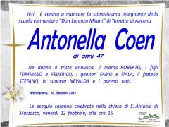 Antonella Coen, necrologio