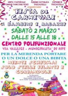Festa di Carnevale a Trecastelli - locandina