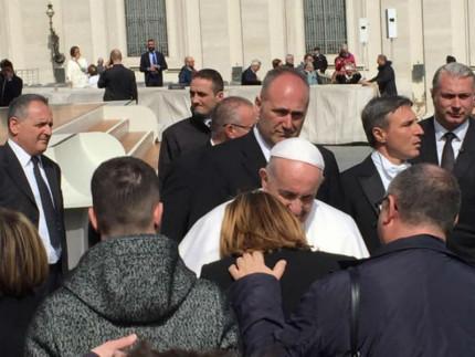Udienza famiglia Saccinto da Papa Francesco