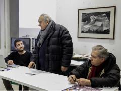 Incontro al Musinf di Senigallia: da sx Christian Tasso, Carlo E. Bugatti e Giorgio Pegoli