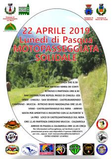 Motopasseggiata solidale Pasquetta 2019 - locandina