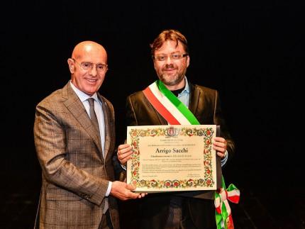 Conferimento della cittadinanza onoraria ad Arrigo Sacchi