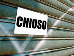 Crisi economica, negozi chiusi