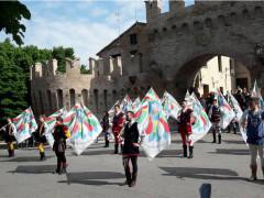 Ritiro della Nazionale Italiana Sbandieratori e Musici della LIS