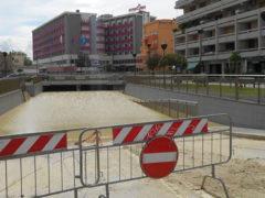 L'alluvione di Senigallia, 3 maggio 2014: il sottopasso di viale IV Novembre