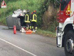 Incidente stradale a Passo Ripe
