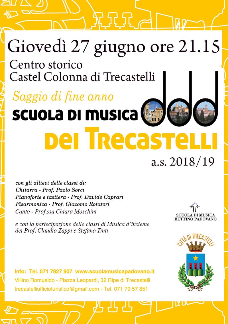 Saggio di Fine Anno degli Allievi della Scuola di Musica dei Trecastelli - locandina