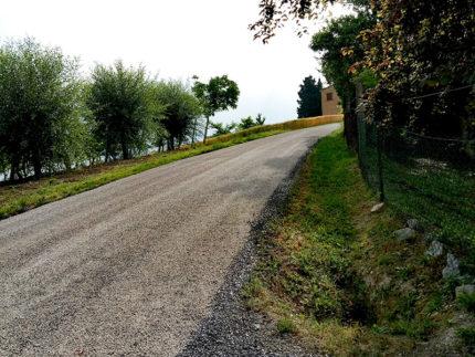 Intervento di manutenzione straordinaria in Strada Valcinage a Corinaldo