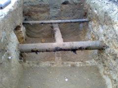 Un tratto delle tubature della rete idrica di Senigallia