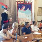 Maria Grazia Battistini presenta il palio 2019 della Contesa del Pozzo della Polenta