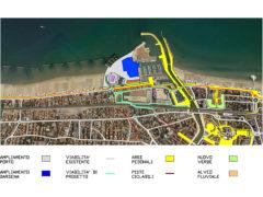 Proposta urbanistica dell'ing. Paolo Landi per nuova viabilità tra centro e porto di Senigallia
