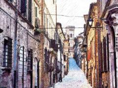 Illustrazione di Corso Mazzini a Ostra