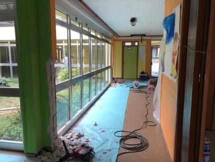 Lavori adeguamento sismico alla scuola per l'infanzia Peter Pan a Brugnetto di Trecastelli