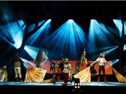 gli Sbandieratori del Combusta Revixi in Canada con il Cirque du Soleil