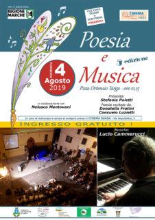 Poesia e Musica 2019 a Castelleone di Suasa - locandina