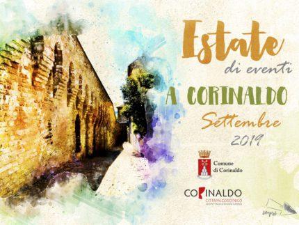 Locandina degli eventi in programma a Corinaldo nel mese di settembre 2019