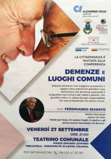 Demenze e luoghi comuni - Conferenza per The' Arcord - locandina