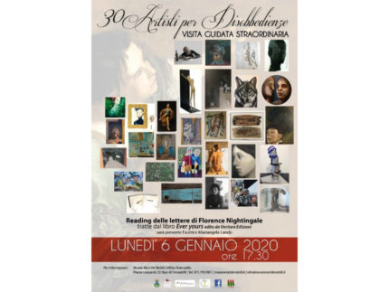 visita guidata straordinaria 30 ARTISTI PER DISOBBEDIENZE
