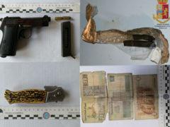Pistola, sequestro